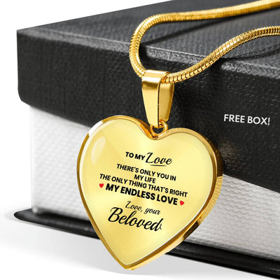 Beloved - Only You In My Life - Heart Necklace