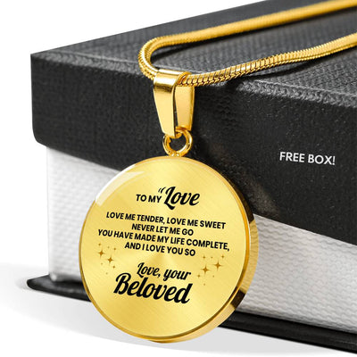 Beloved - Love Me Tender, Love Me Sweet - Circle Necklace