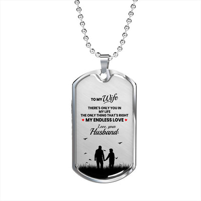 Only You In My Life - Dog Tag Necklace