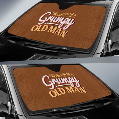 Proud Car Of A Grumpy Old Man Auto Sun Shade