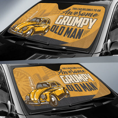 This Car Belongs To An Awesome Grumpy Old Man Auto Sun Shade