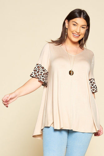 Solid Jersey Swing Tunic Top