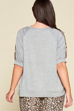 Load image into Gallery viewer, Animal Print Pocket French Terry Casual Top