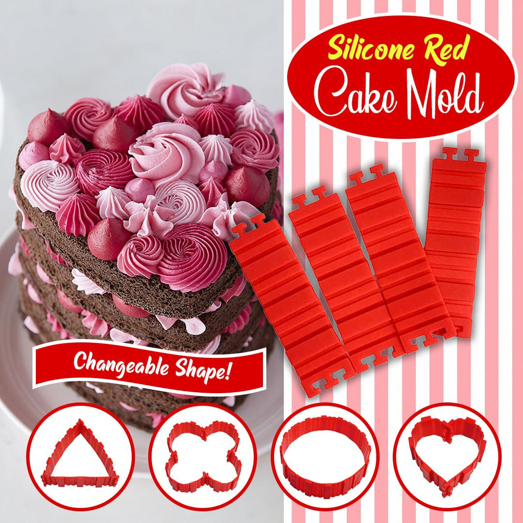Transformable Silicone Cake Mold Pieces - 4pcs/ 8pcs