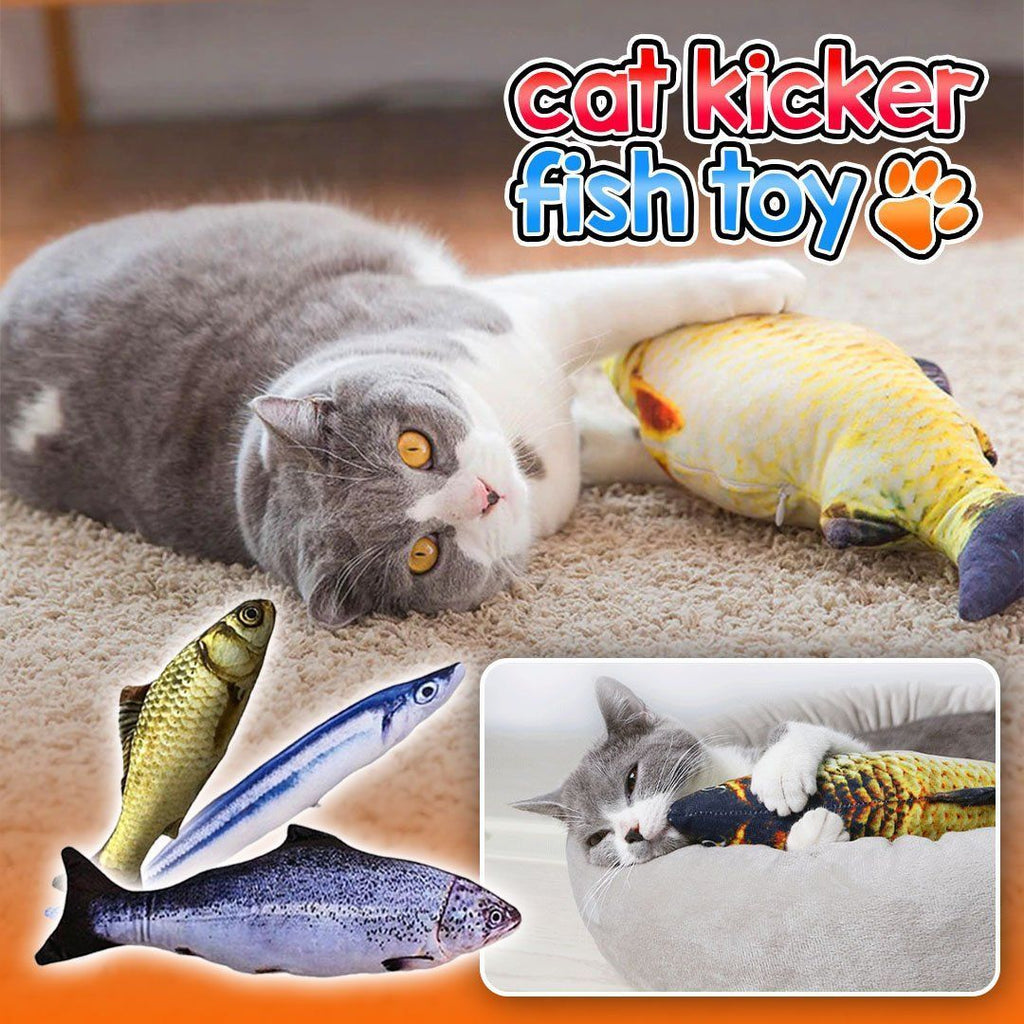 Cat Kicker Fish Toy (With USB Rechargeable Motor)