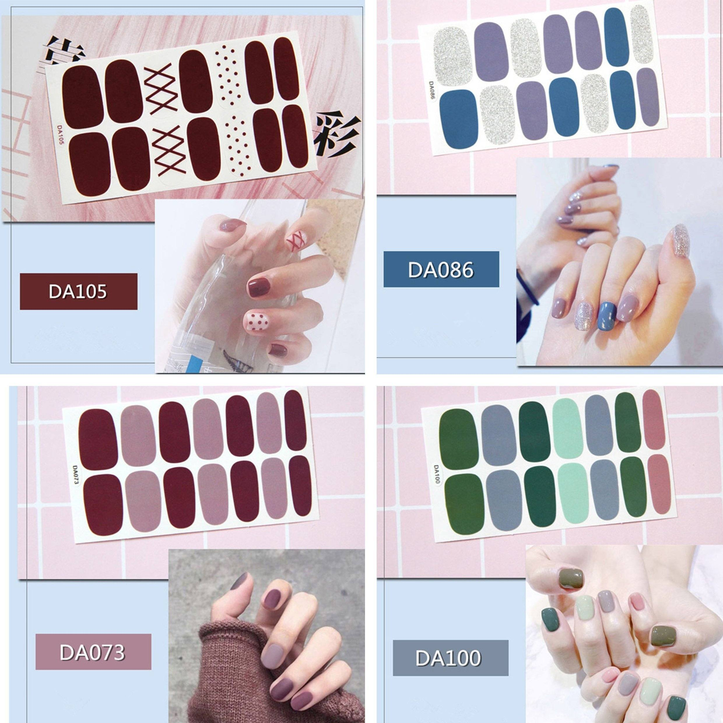 Salon Quality Nail Art Wraps - 56 Tips Set/ 60 Tips Set