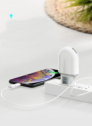 ZARYA Universal Double Outlets Portable Charger - iPhone/Type C/Android