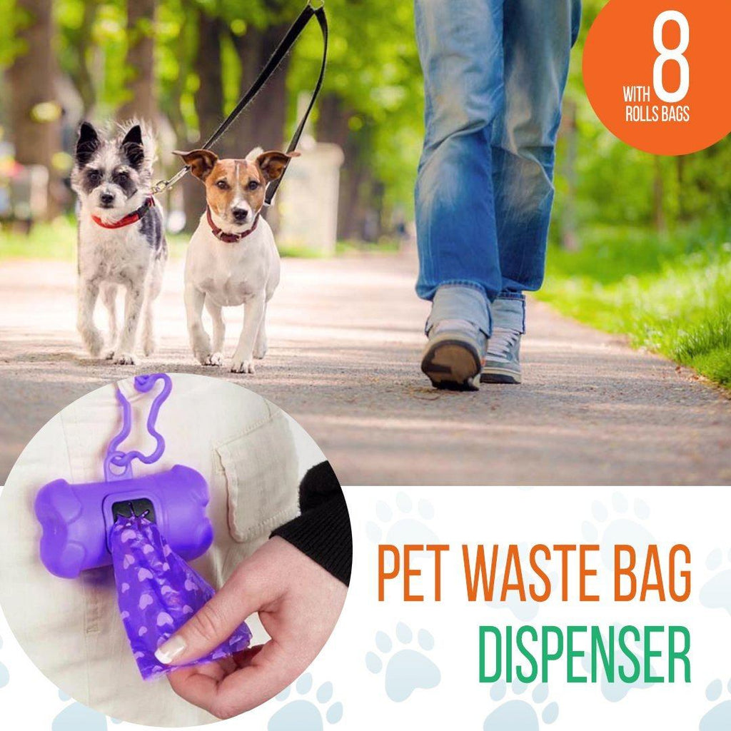 Biodegradable Pet Waste Bag Dispenser With Bags(8 Rolls)160-Count