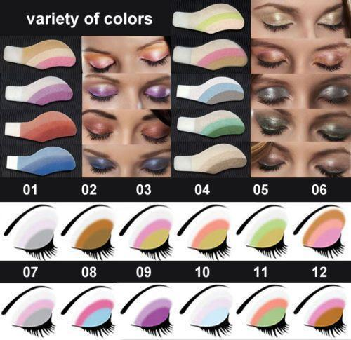 Random Mix Instant Eyeshadow Sticker - 6 Pairs Set