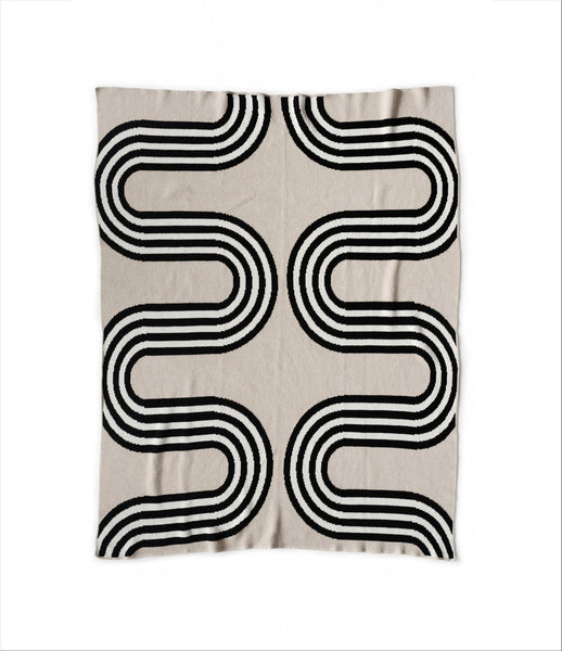 """78th St"" Recycled Cotton Throw by Happy Habitat"