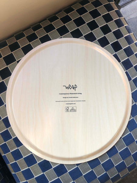 Wrap Magazine Serving Tray - Round