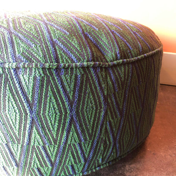 Recycled Fabric Ottoman by Anjia Jalac - 23""