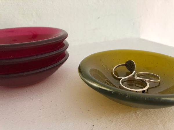 Glass Ring Dish by Carla Morales