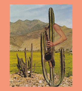 Heavy Hymns Cactus Collage Print