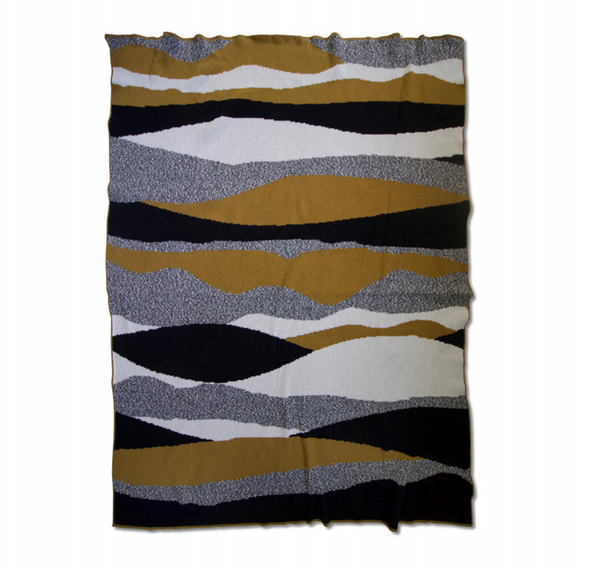 """Landscape"" Recycled Cotton Throw by Happy Habitat"