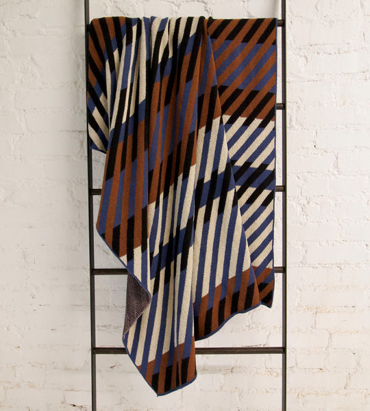 """Diagonals"" Recycled Cotton Throw by Happy Habitat"