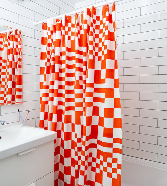 Dusen Dusen Check Shower Curtain