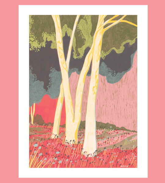 """Bone White Trees"" Print by Jessie Mahon - 2 Sizes Available"