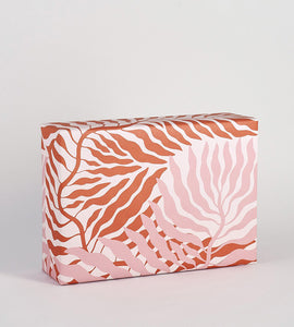 "Wrap Magazine ""Pink Leaves"" Wrapping Paper - 1 Sheet"