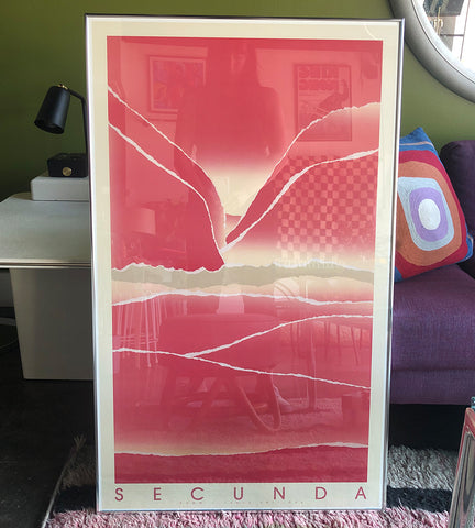 "1980's Framed Lithograph by Arthur Secunda - 24"" x 40"""