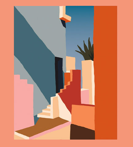 """Tangerine Stairs"" Art Print - Charlie Bennell for Slowdown Studio"
