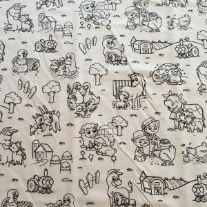 Color me pillowcase crayola pillowcase farm animal pillowcase