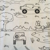 Color Me Pillowcase - J for Jeep
