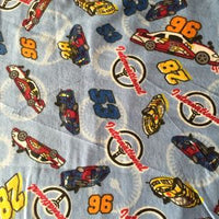 Flannel Race Car Fabric