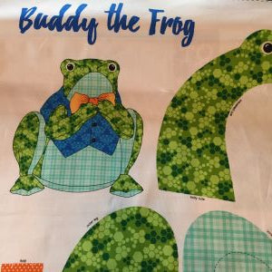 Buddy the Frog Stuffed Toy Fabric