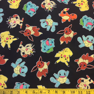 Pokemon Character on Black Fabric