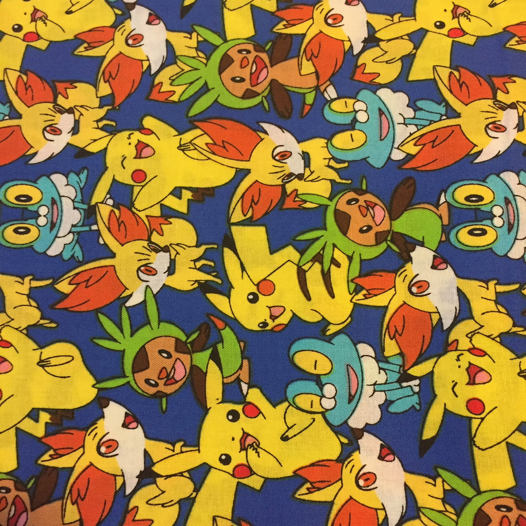 Pokemon Character Fabric