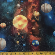 Solar System Planets Fabric