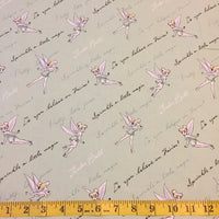Tinker Bell with Sayings Fabric
