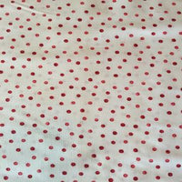 White and Red Cotton Fabric