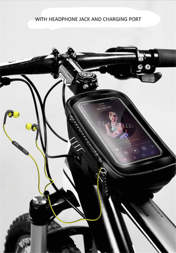 Waterproof Mountain Bike Bag with Mobile Phone Touch Display