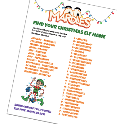 Christmas Elf Names.Find Your Christmas Elf Name Mardles
