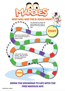 Print and play B-icicle race AR game.