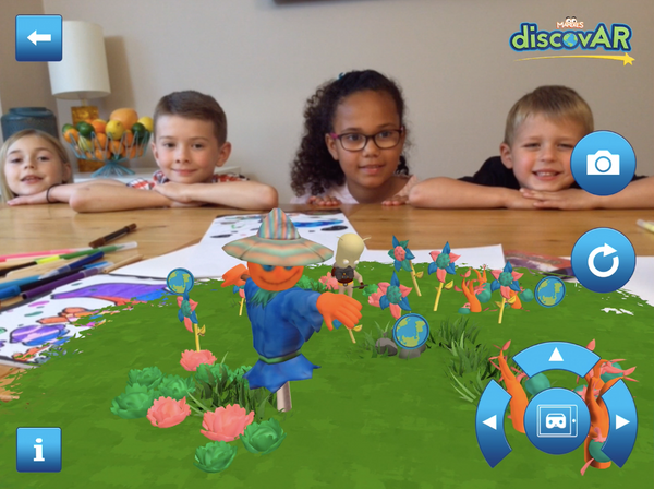 augmented reality colouring app in use