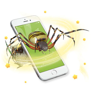 Augmented reality spider sticker comes to life