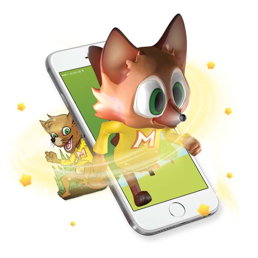 Augmented Reality fox sticker comes to life