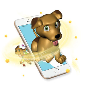 Augmented Reality dog sticker comes to life