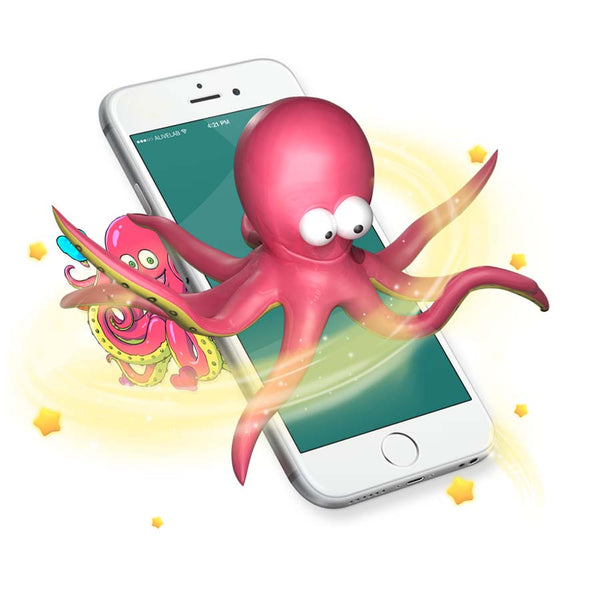 Octopus Augmented reality sticker come to life