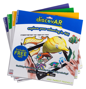 School Holiday Promotion £20 with FREE UK SHIPPING (normally £31.95) - Complete set of 4 Mardles discovAR 4D Interactive Colouring Books