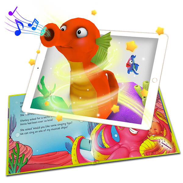 Stanley the Seahorse augmented reality story book detail