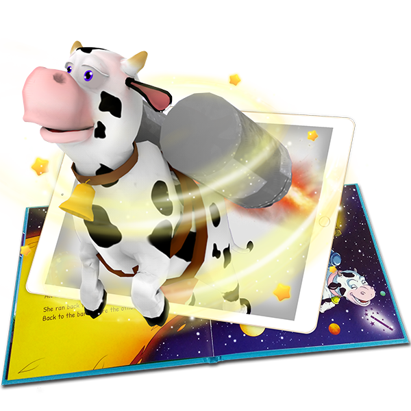 The cow that says how augmented reality story book detail