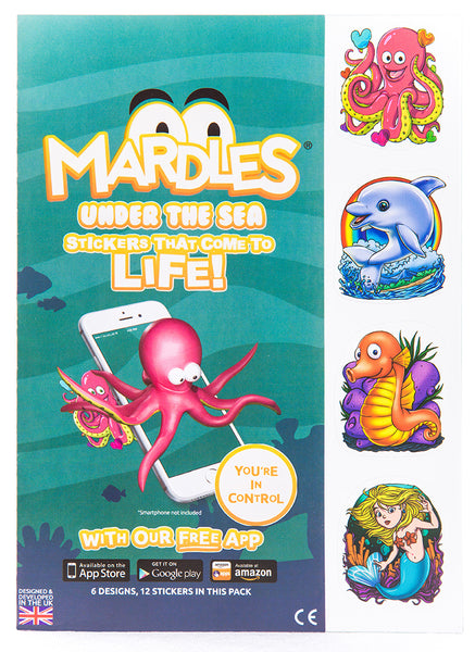 under the sea sticker pack detail