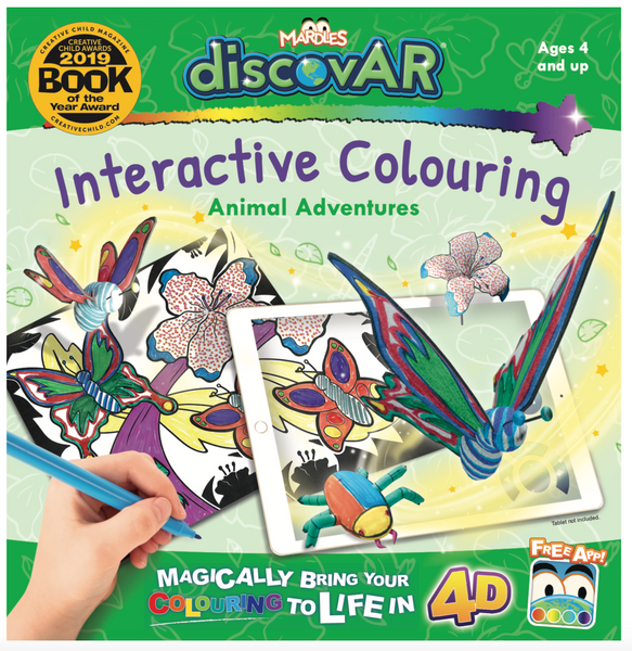 Animal Adventures 4D Interactive Colouring Book