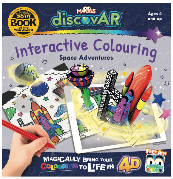 Space Adventures 4D Interactive Colouring Book