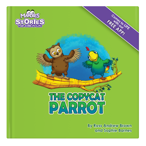 The copycat parrot augmented reality story book
