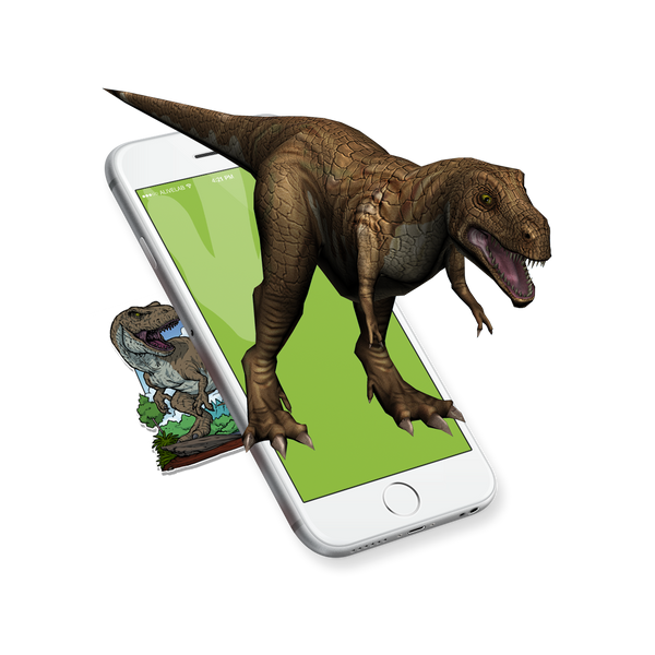 Bugs and beasts augmented reailty dinosaur sticker